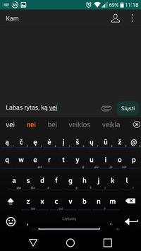 Lithuanian for AnySoftKeyboard screenshot 4
