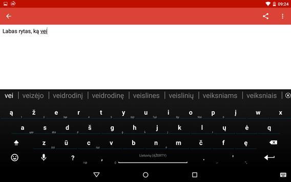 Lithuanian for AnySoftKeyboard screenshot 8