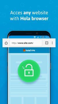 Hola Free VPN Proxy स्क्रीनशॉट 1