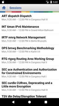 IETF Schedule Application screenshot 2