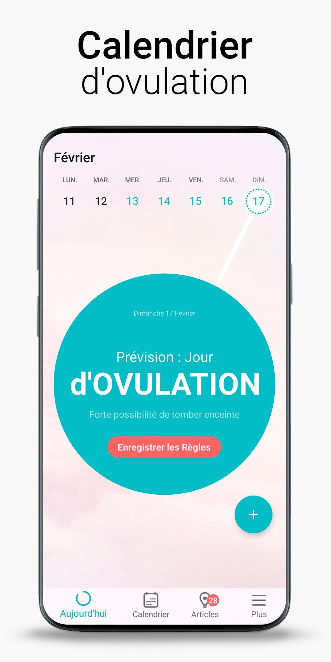 Calendrier Ovulation Et Regle.Salendrier Des Regles Flo Calendrier Menstruel Pour