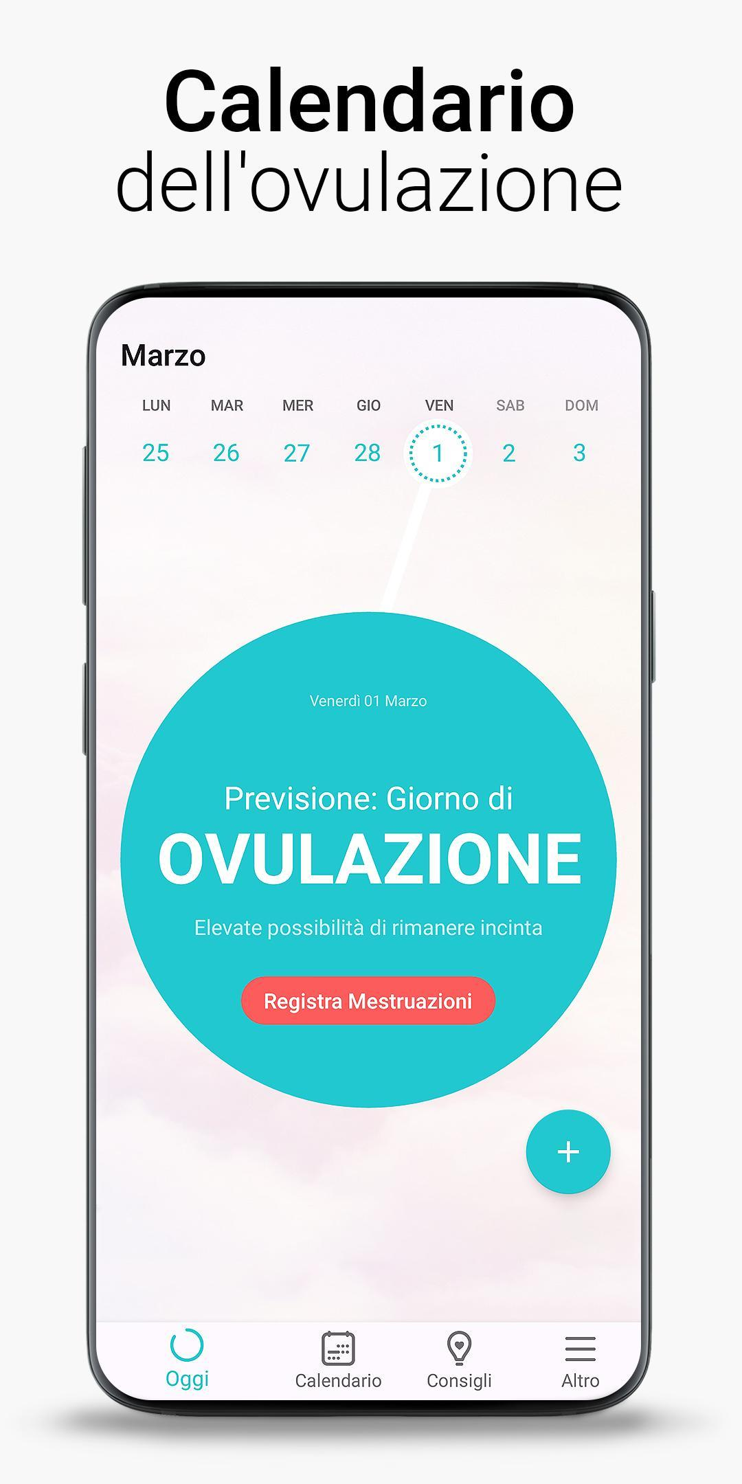 Calendario Di Ovulazione.Calendario Mestruale Ovulazione E Fertilita Flo For