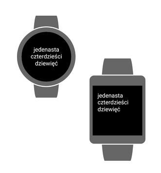Poster Zegarek Tekstowy