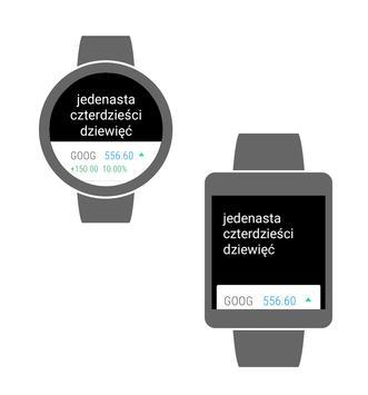 1 Schermata Zegarek Tekstowy