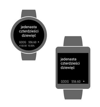2 Schermata Zegarek Tekstowy