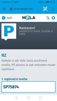 Parkování Pardubice screenshot 1