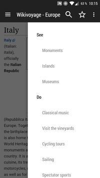 WikiVoyage Europe - Offline Travel Guide تصوير الشاشة 2