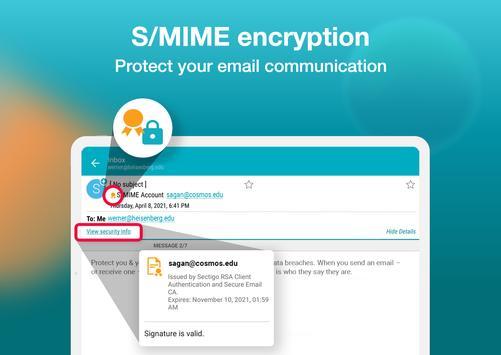 Email Aqua Mail - Exchange, SMIME, Smart inbox screenshot 18