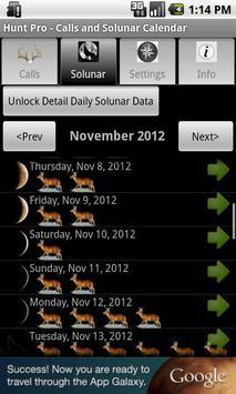 Hunt Pro - Calls and Solunar screenshot 1