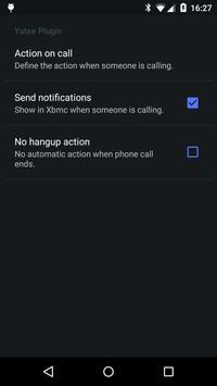 Call plugin for Yatse screenshot 1