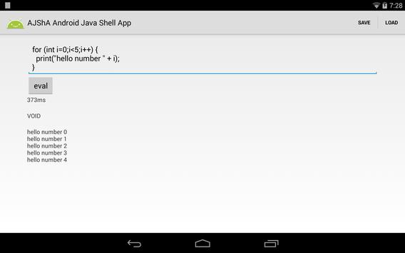AJShA Android Java Shell App screenshot 10
