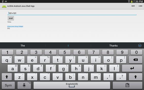 AJShA Android Java Shell App screenshot 4