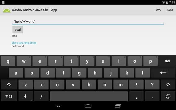 AJShA Android Java Shell App screenshot 5