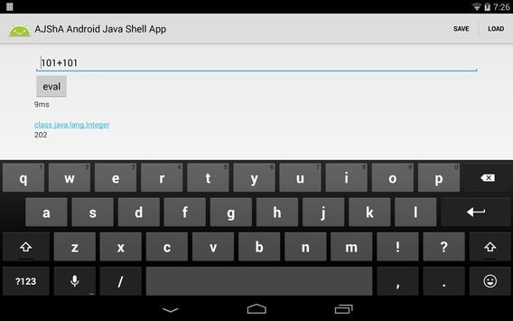 AJShA Android Java Shell App screenshot 6