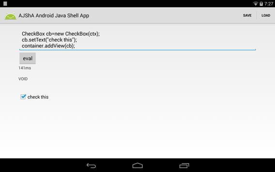 AJShA Android Java Shell App screenshot 9