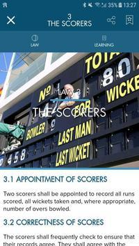 Official Laws of Cricket ảnh chụp màn hình 3