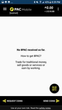 $PAC Mobile Wallet screenshot 1