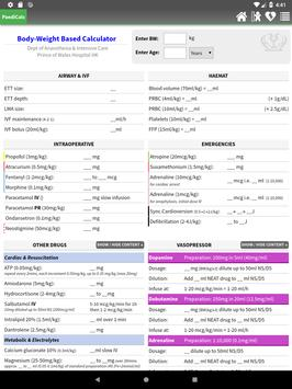 PaediCalc screenshot 3