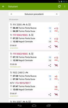Train Timetable Italy capture d'écran 10