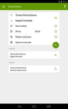 Train Timetable Italy capture d'écran 9
