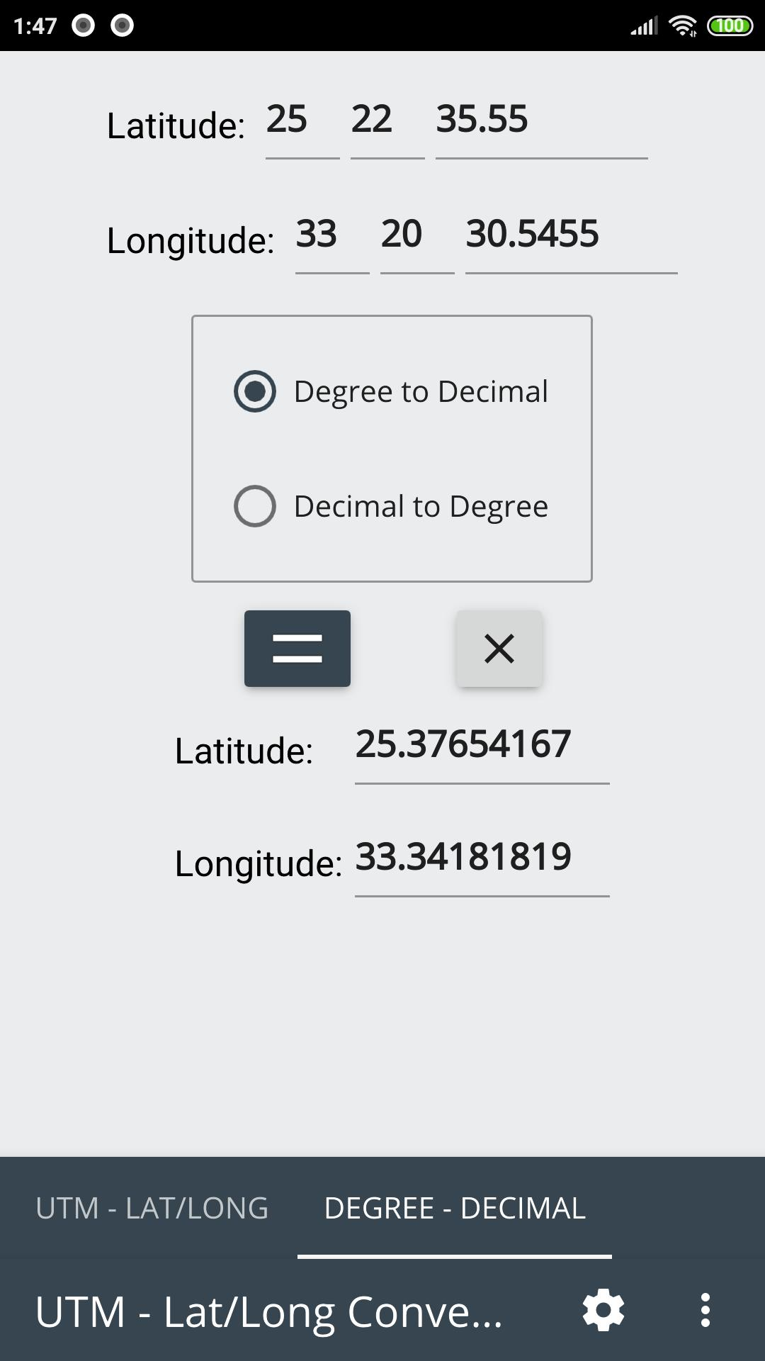 Lat/Long & UTM Converter for Android - APK Download