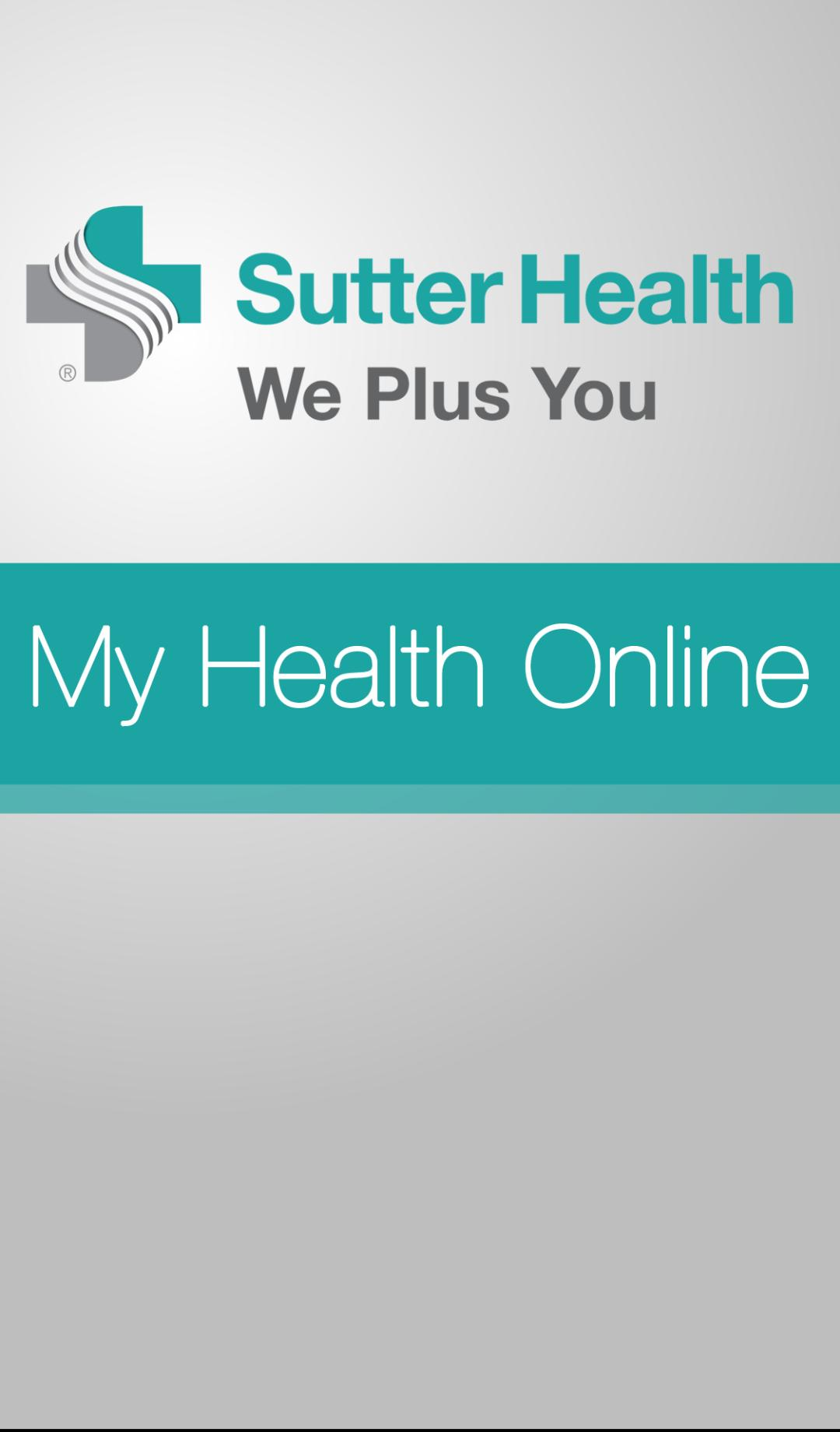 My Health Online Sutter - PicsHealth
