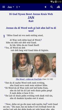 Belize Kriol - Bible poster