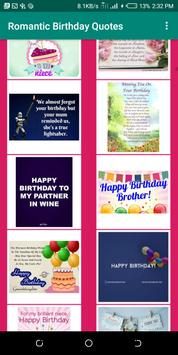 Romantic Happy Birthday Quotes 2019 screenshot 6