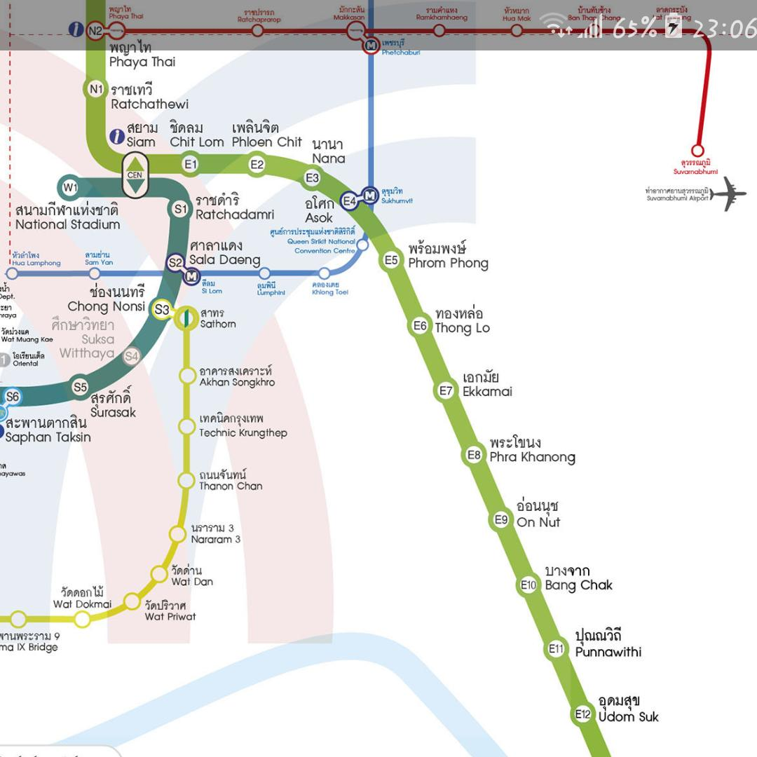 Thailand Bangkok Metro MRT BTS train map für Android - APK ...