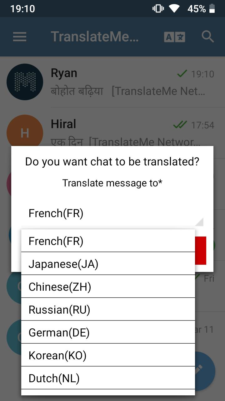 TranslateMe telegram translation android messenger for