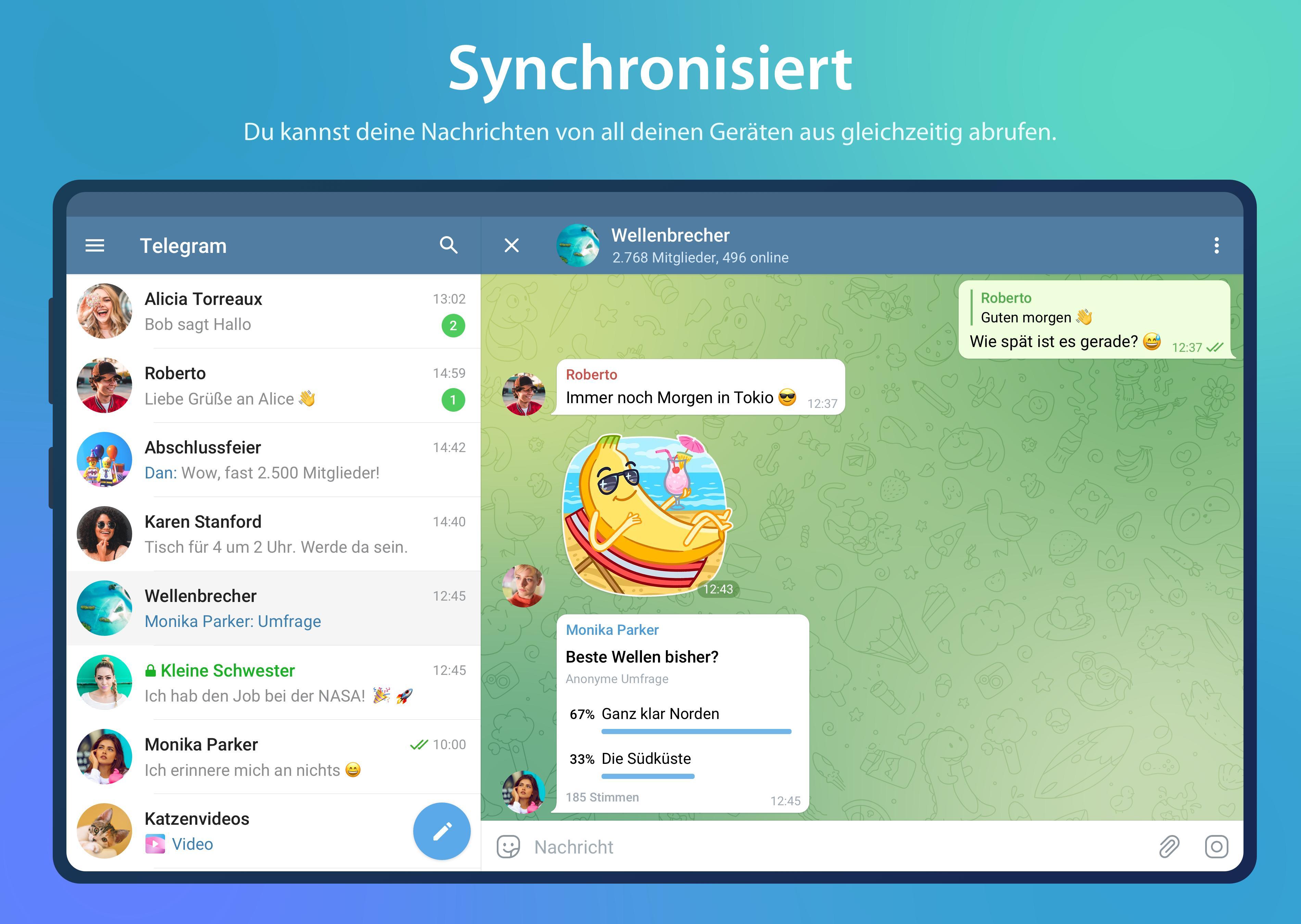 Telegram für Android   APK herunterladen