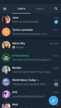 Telegram X الملصق