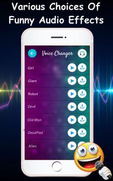 Voice Changer Audio Effects Plakat
