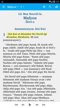 St. Lucian Creole - Bible screenshot 1
