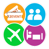 2Event-App for Events, networking and travelmates icon
