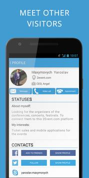 2Event-App for Events, networking and travelmates screenshot 3