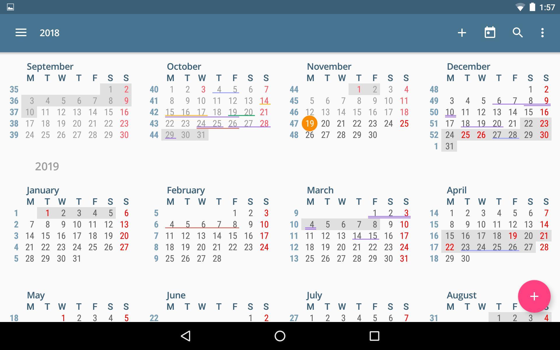 Acalendar Anleitung acalendar für android - apk herunterladen