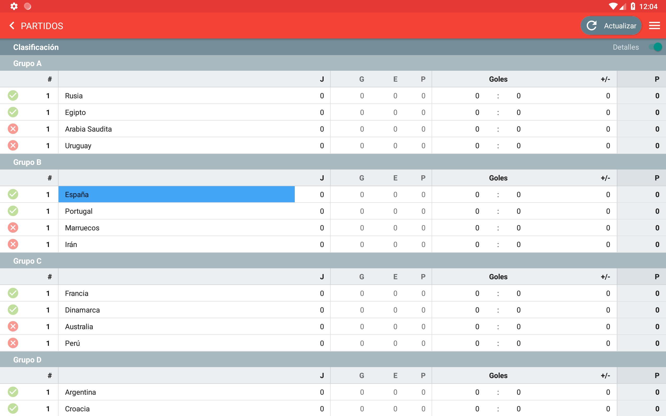 Actualizar Calendario.Eurocopa 2020 Calendario Clasificacion For Android Apk