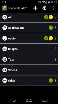 Loader Droid download manager تصوير الشاشة 1