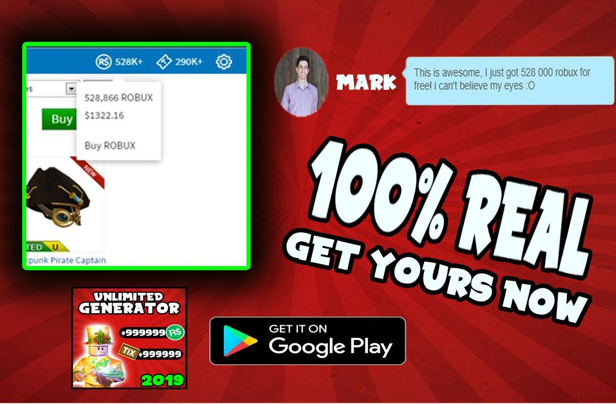 Free Robux 2019 L Get Free Robux L For Android Apk Download