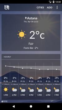 Kazakhstan Weather poster