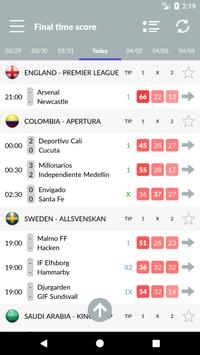 Soccer Predictions, statistics, bets screenshot 1