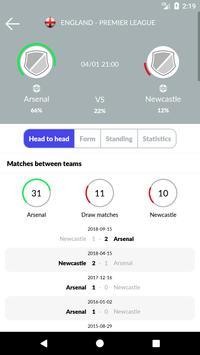 Soccer Predictions, statistics, bets screenshot 2