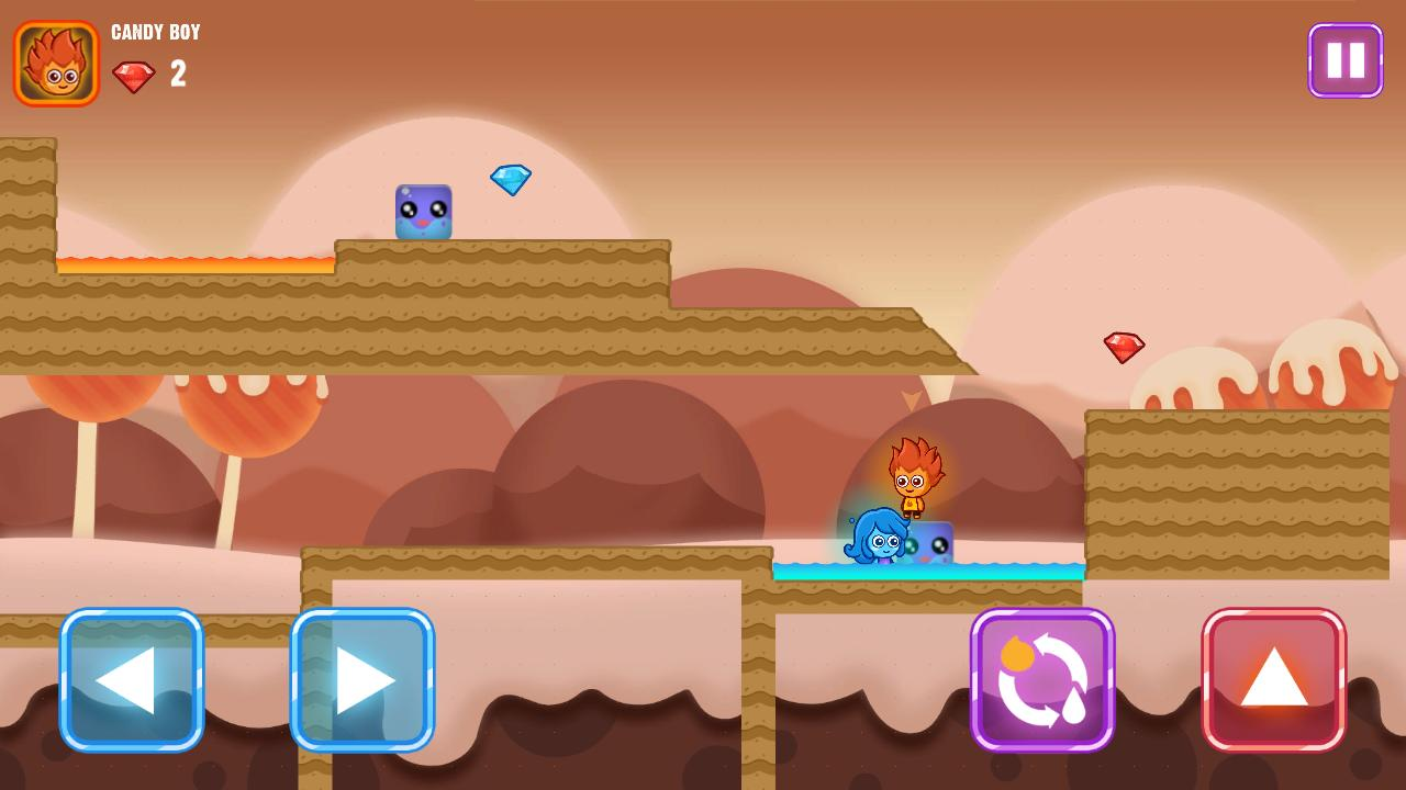 Fire and Water Maze - Crazy Boy and Lovely Girl for Android