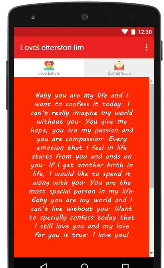 Romantic paragraphs for him