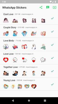 Love stickers for WhatsApp - WAStickerApps poster