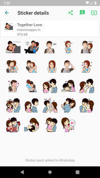 Love stickers for WhatsApp - WAStickerApps screenshot 10