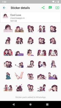 Love stickers for WhatsApp - WAStickerApps screenshot 4