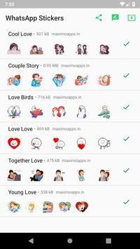 Love stickers for WhatsApp - WAStickerApps screenshot 7