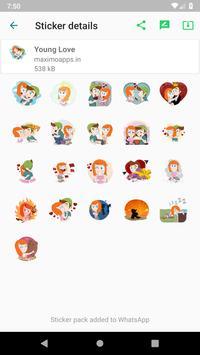 Love stickers for WhatsApp - WAStickerApps screenshot 9